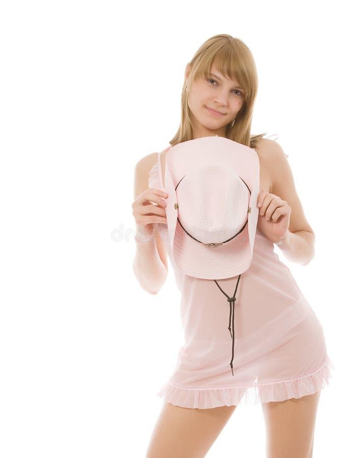 όμορφη στάση καπέλων κοριτ&si στοκ εικόνες