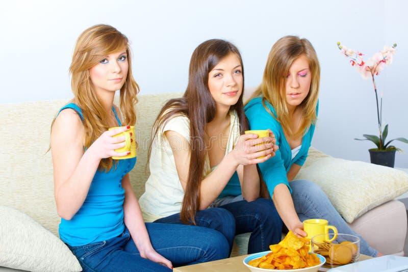 Όμορφη συνάντηση κοριτσιών στοκ εικόνα με δικαίωμα ελεύθερης χρήσης