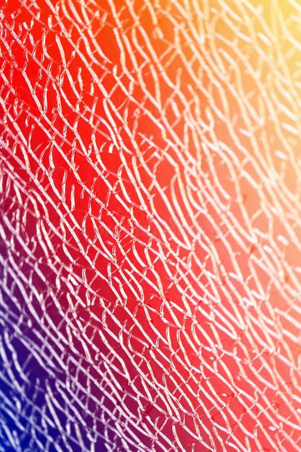 Όμορφη σύσταση του διαφανούς σπασμένου γυαλιού που φωτογραφίζεται στοκ εικόνα με δικαίωμα ελεύθερης χρήσης