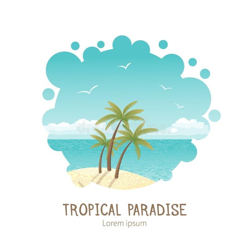 Όμορφη τροπική διανυσματική απεικόνιση νησιών ελεύθερη απεικόνιση δικαιώματος