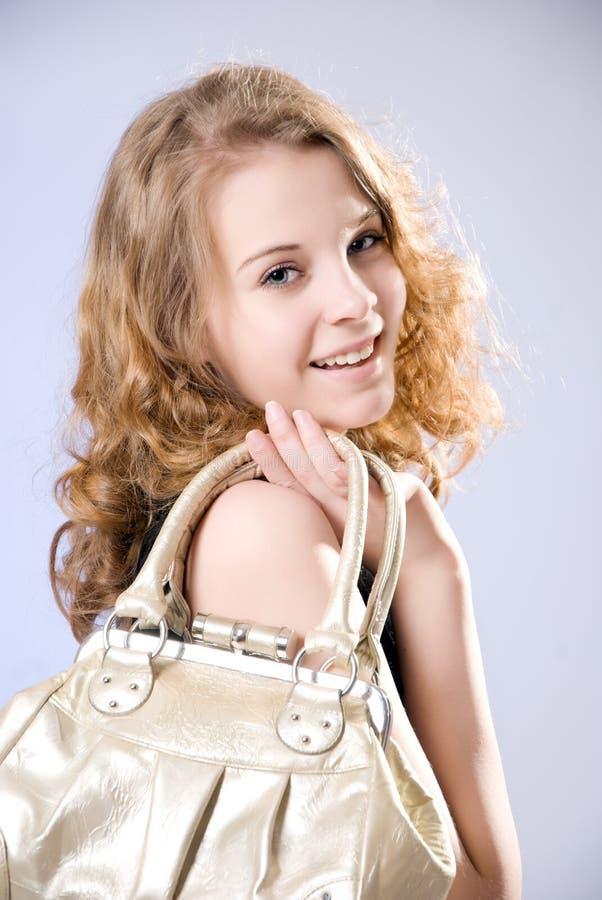 όμορφη τσάντα κοριτσιών στοκ εικόνα με δικαίωμα ελεύθερης χρήσης