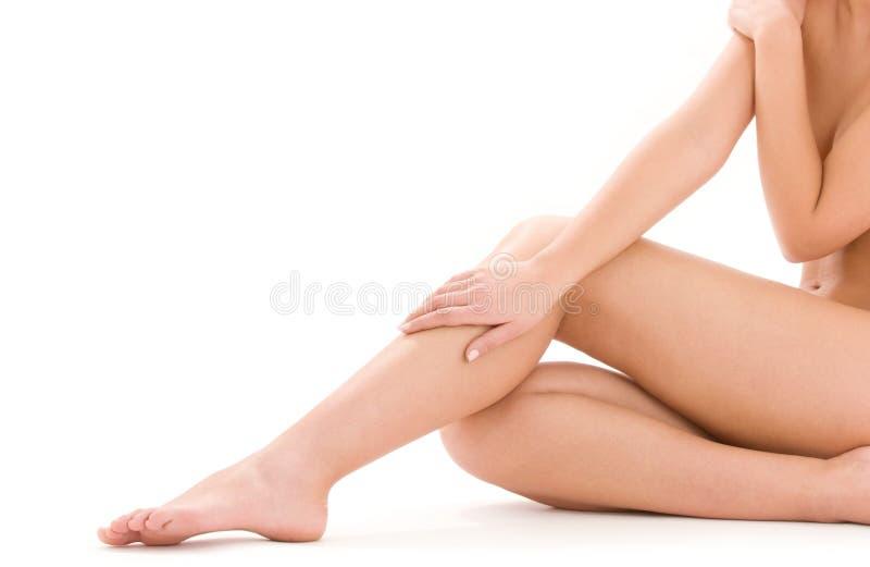 όμορφη υγιής γυναίκα ποδ&iota στοκ εικόνα με δικαίωμα ελεύθερης χρήσης
