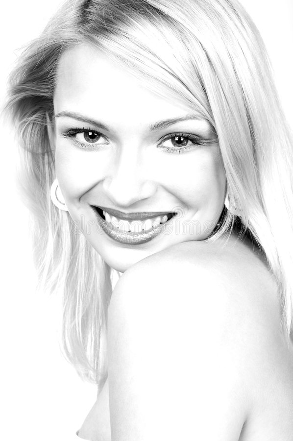 όμορφη χαμογελώντας γυναίκα στοκ εικόνα