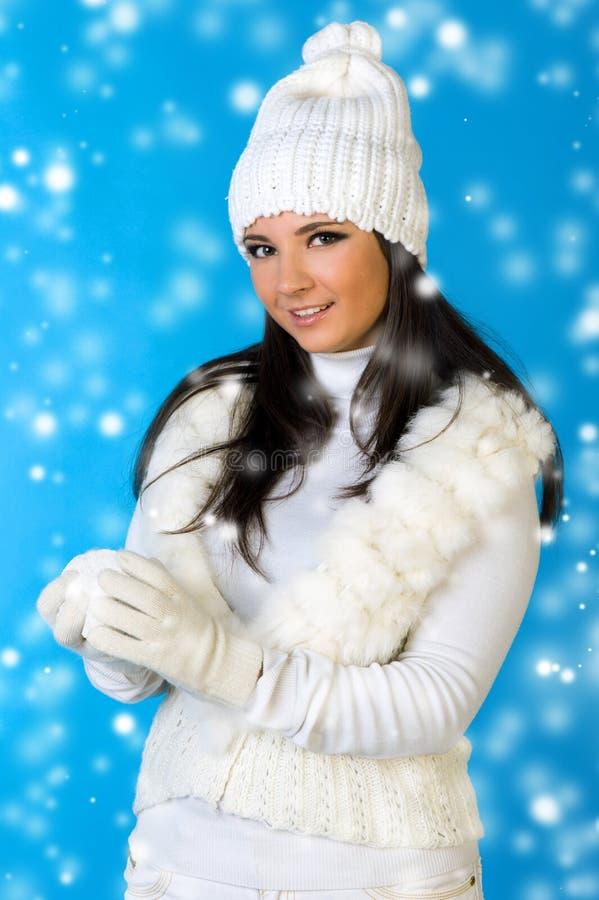 όμορφη χειμερινή γυναίκα χ& στοκ φωτογραφία