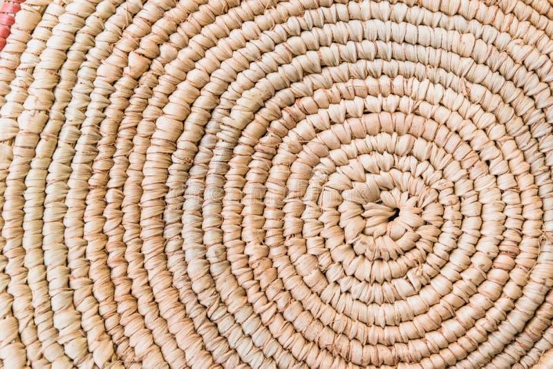 Όμορφη Raffia λεπτομέρεια σύστασης πλεξίματος Grunge χαλιών θέσεων επιπλέον τραχιά Παραδοσιακό handcraft σχέδιο ύφους ύφανσης ταϊ στοκ εικόνες