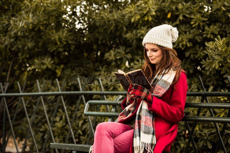 Όμορφη Redhead ανάγνωση ένα βιβλίο στοκ φωτογραφίες με δικαίωμα ελεύθερης χρήσης