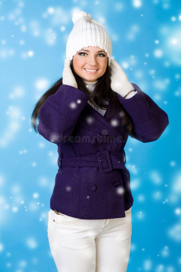 όμορφη snowflake μόδας χειμερινή γ&ups στοκ εικόνες