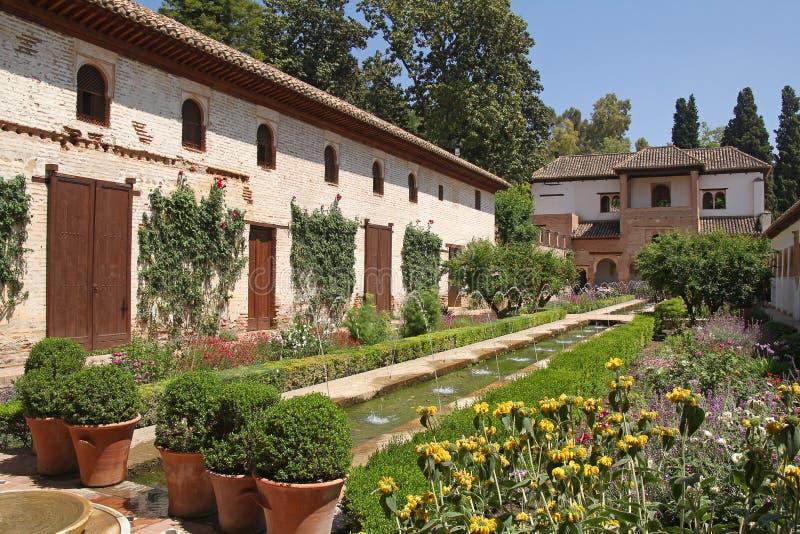 Όμορφοι κήποι Generalife στοκ φωτογραφία