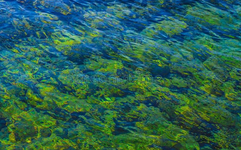 Όμορφοι πράσινοι κυματισμοί νερού - σύσταση ρηχών νερών στοκ φωτογραφίες