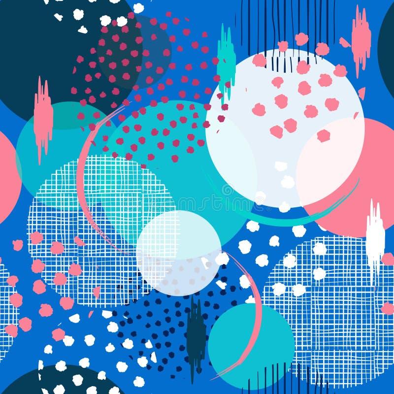 Όμορφος άνευ ραφής πολλοί σχέδιο στα μεγάλα σημεία Πόλκα Γεμίστε μέσα με απεικόνιση αποθεμάτων