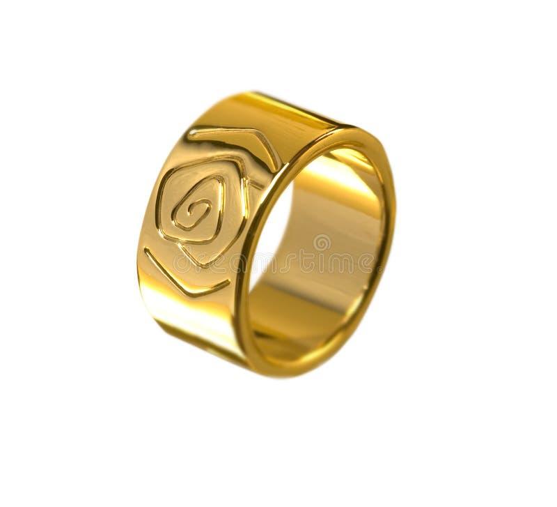 όμορφος απομονωμένος χρυσός γάμος δαχτυλιδιών στοκ εικόνες