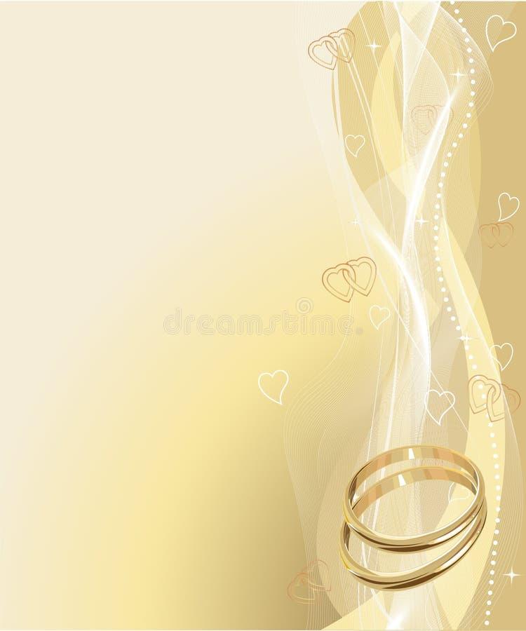 όμορφος γάμος δαχτυλιδ&iot ελεύθερη απεικόνιση δικαιώματος