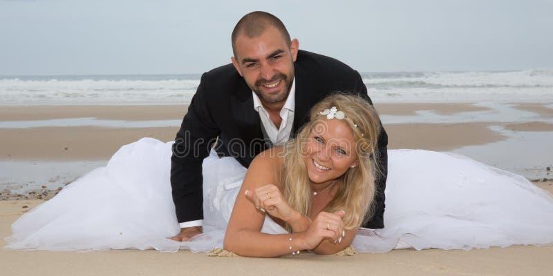 όμορφος γάμος ζευγών στοκ φωτογραφία