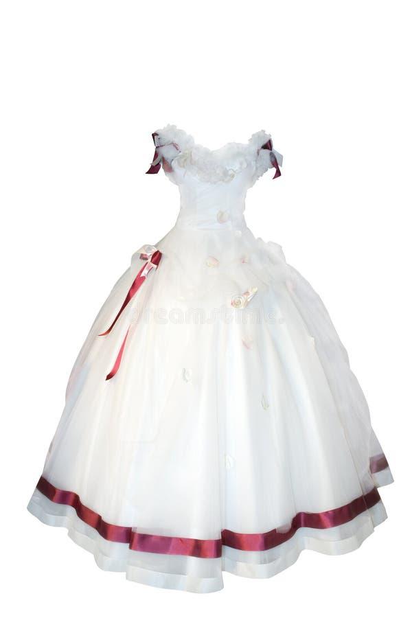 όμορφος γάμος φορεμάτων στοκ εικόνα