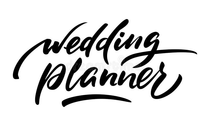 Όμορφος γαμήλιος αρμόδιος για το σχεδιασμό επιγραφής Για τις νύφες σε προετοιμασία για τη ημέρα γάμου ελεύθερη απεικόνιση δικαιώματος