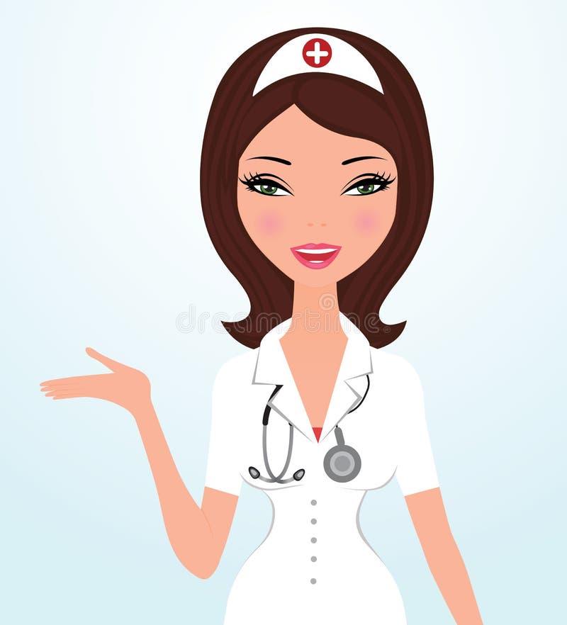 όμορφος γιατρός διανυσματική απεικόνιση