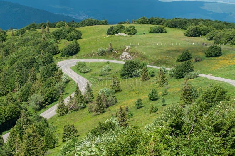 Όμορφος δρόμος δαντελλών βουνών στην κορυφή vieuw στοκ εικόνες