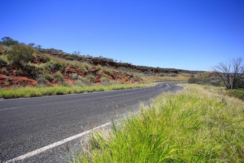 Όμορφος δρόμος φαραγγιών βουνών στην Αυστραλία στοκ εικόνες