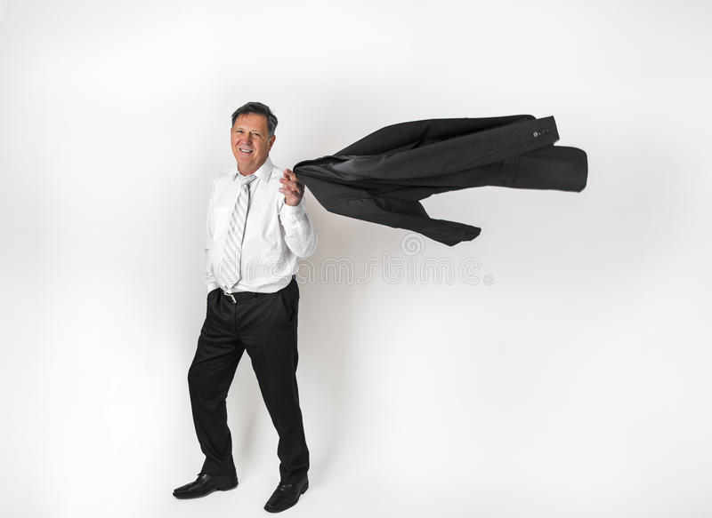 Download Όμορφος επιχειρηματίας στο άσπρο υπόβαθρο Στοκ Εικόνα - εικόνα από συμπαθητικός, άνθρωποι: 62711769