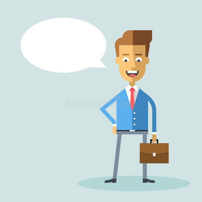 Όμορφος επιχειρηματίας στο επίσημο κοστούμι με έναν χαρτοφύλακα ελεύθερη απεικόνιση δικαιώματος