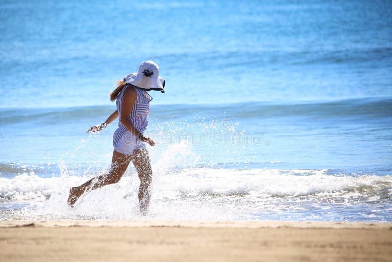 Όμορφος, θάλασσα, παραλία, χαρά στοκ εικόνες