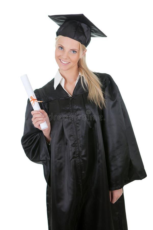όμορφος θηλυκός βαθμολογώντας σπουδαστής στοκ φωτογραφίες