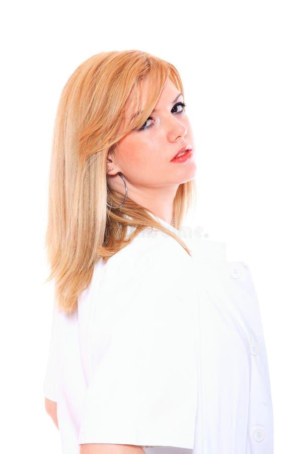 Όμορφος θηλυκός γιατρός στοκ φωτογραφίες με δικαίωμα ελεύθερης χρήσης