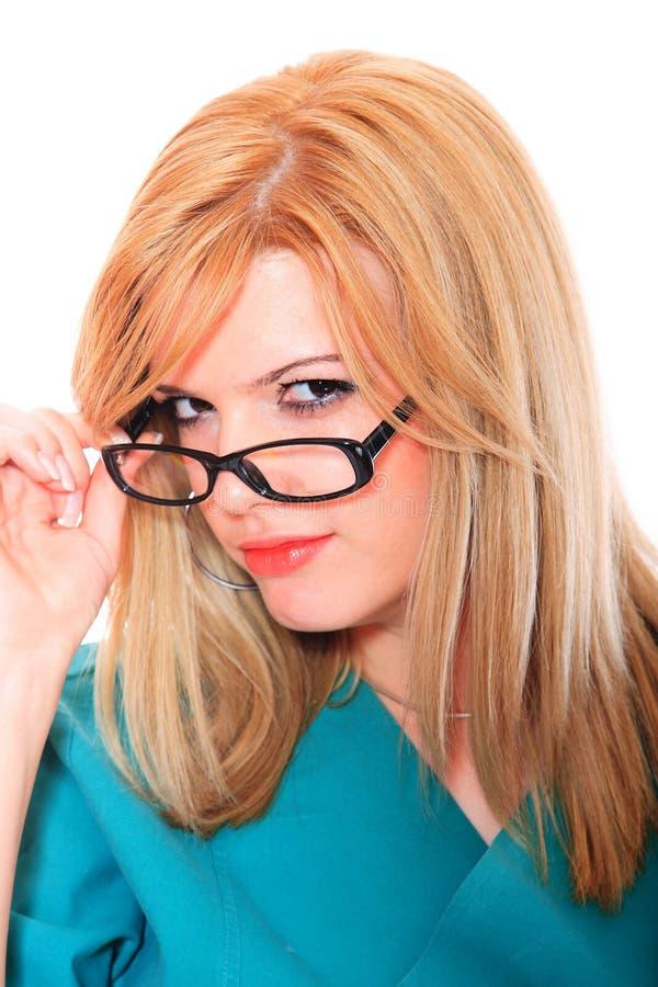 Όμορφος θηλυκός γιατρός στοκ φωτογραφία με δικαίωμα ελεύθερης χρήσης