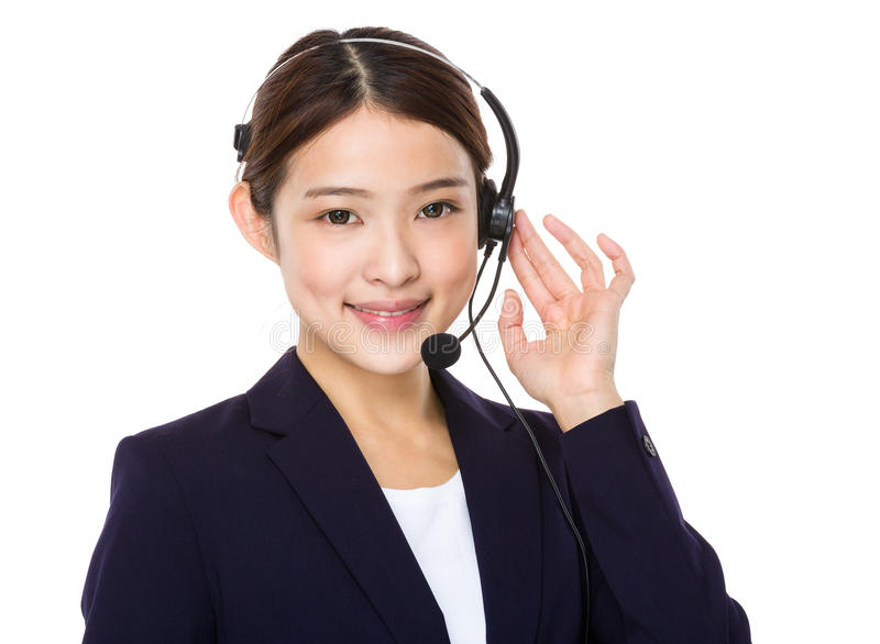 Όμορφος θηλυκός χειριστής εξυπηρέτησης πελατών στοκ εικόνες με δικαίωμα ελεύθερης χρήσης
