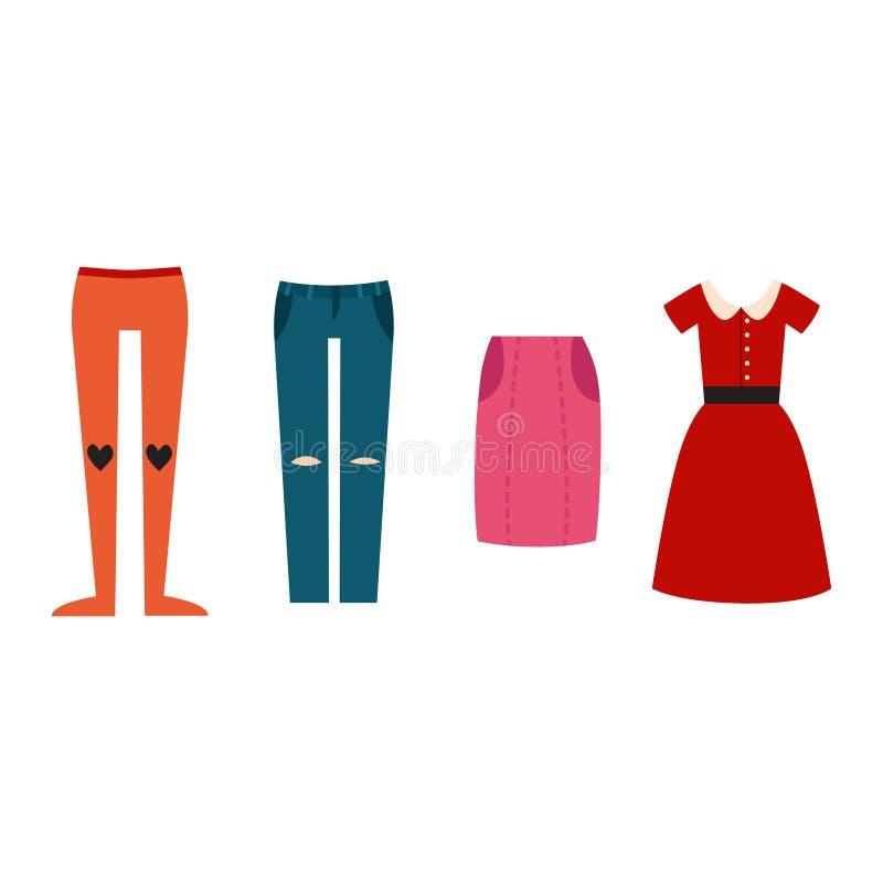 Όμορφος διανυσματικός κατασκευαστής υφασμάτων κοριτσιών μόδας κινούμενων σχεδίων διανυσματική απεικόνιση