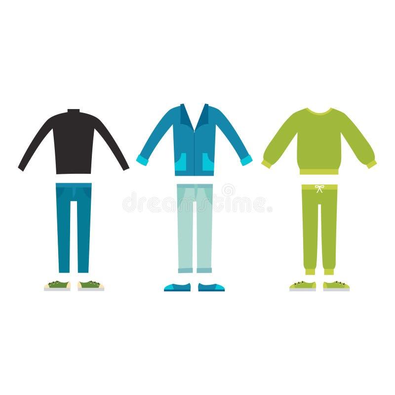 Όμορφος διανυσματικός κινούμενων σχεδίων κατασκευαστής υφασμάτων μόδας αρσενικός απεικόνιση αποθεμάτων