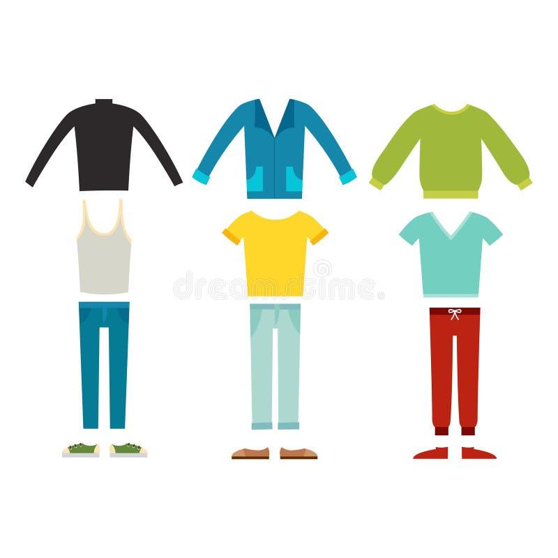 Όμορφος διανυσματικός κινούμενων σχεδίων κατασκευαστής υφασμάτων μόδας αρσενικός ελεύθερη απεικόνιση δικαιώματος