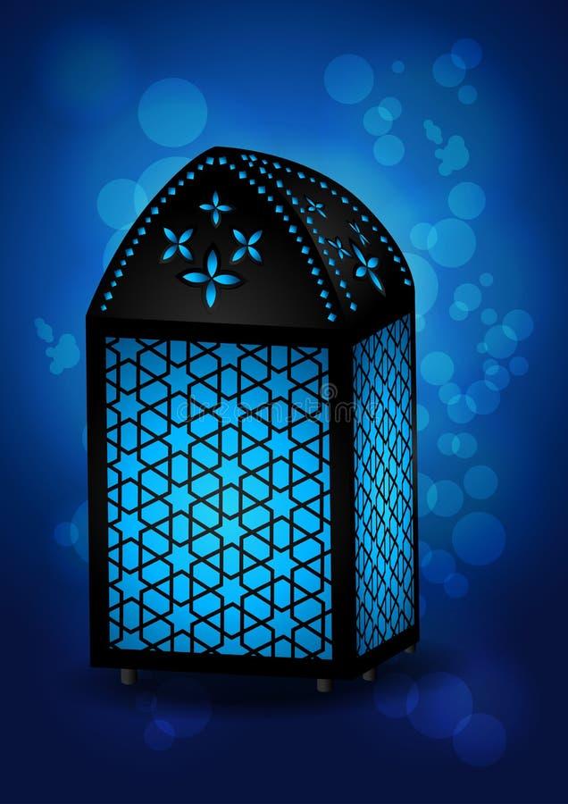 Όμορφος ισλαμικός λαμπτήρας για τους εορτασμούς Eid/Ramadan - διάνυσμα Ι ελεύθερη απεικόνιση δικαιώματος