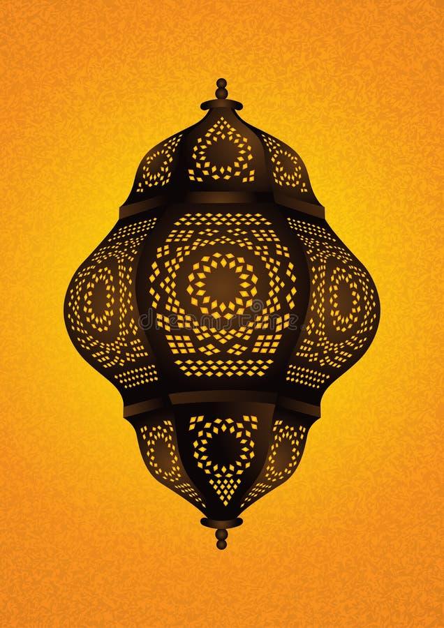 Όμορφος ισλαμικός λαμπτήρας για τους εορτασμούς Eid/Ramadan - διάνυσμα απεικόνιση αποθεμάτων