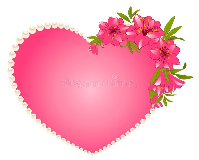 όμορφος κρίνος καρδιών αν&the διανυσματική απεικόνιση