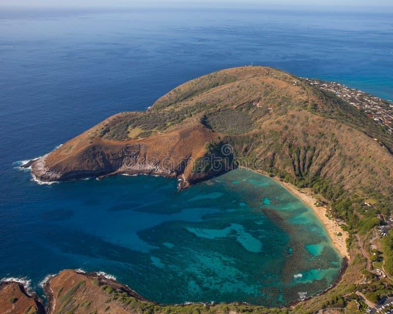 Όμορφος κόλπος Oahu Χαβάη Hanauma στοκ εικόνα με δικαίωμα ελεύθερης χρήσης