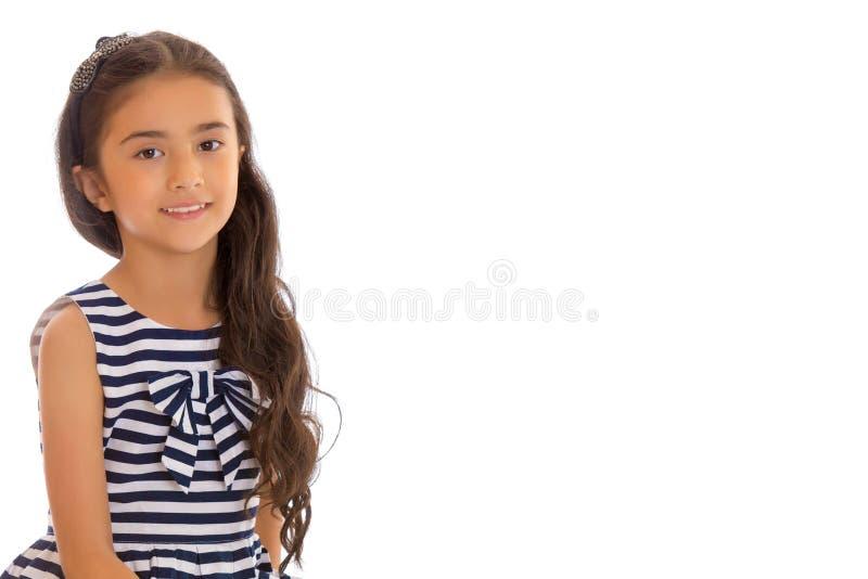 Όμορφος λίγο ασιατικό κορίτσι στοκ φωτογραφία