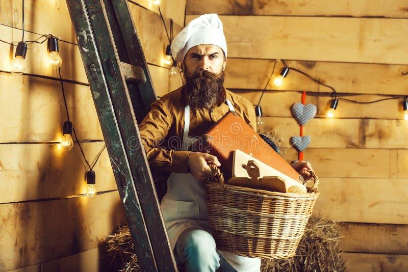 Όμορφος μάγειρας ή αρτοποιός αρχιμαγείρων στοκ φωτογραφία