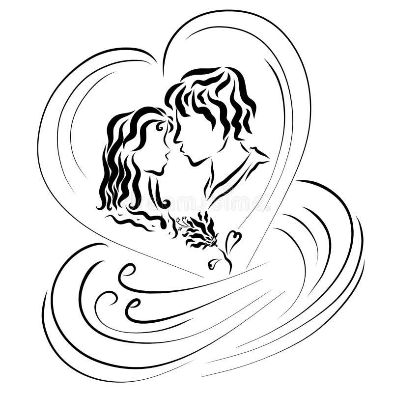 Όμορφος μαγικός της αγάπης, συναισθήματα των εραστών ελεύθερη απεικόνιση δικαιώματος