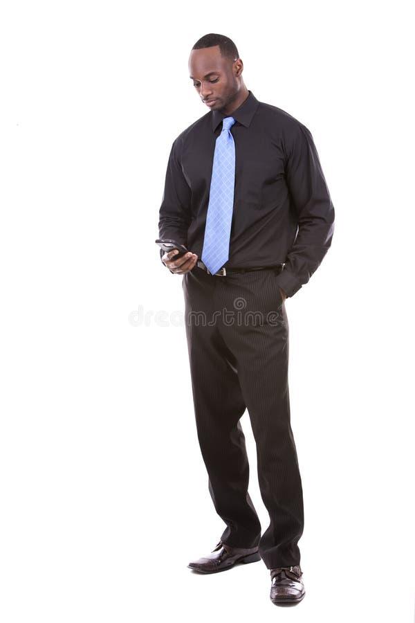 Όμορφος μαύρος επιχειρηματίας στοκ φωτογραφία