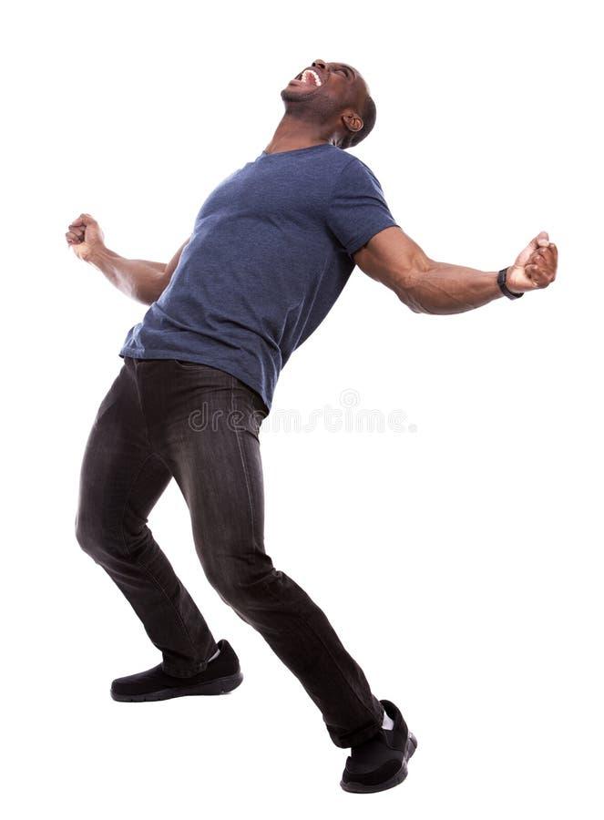 Όμορφος μαύρος που κραυγάζει με τον ενθουσιασμό στοκ φωτογραφία με δικαίωμα ελεύθερης χρήσης