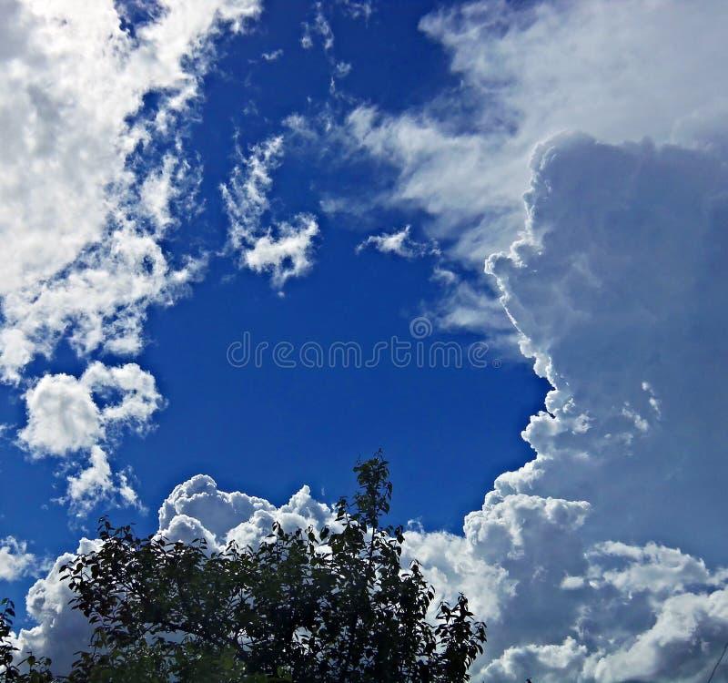 όμορφος νεφελώδης ουρα& Ανατολή βακκινίων ευχάριστη όψη μπλε ουρανός στοκ φωτογραφία με δικαίωμα ελεύθερης χρήσης