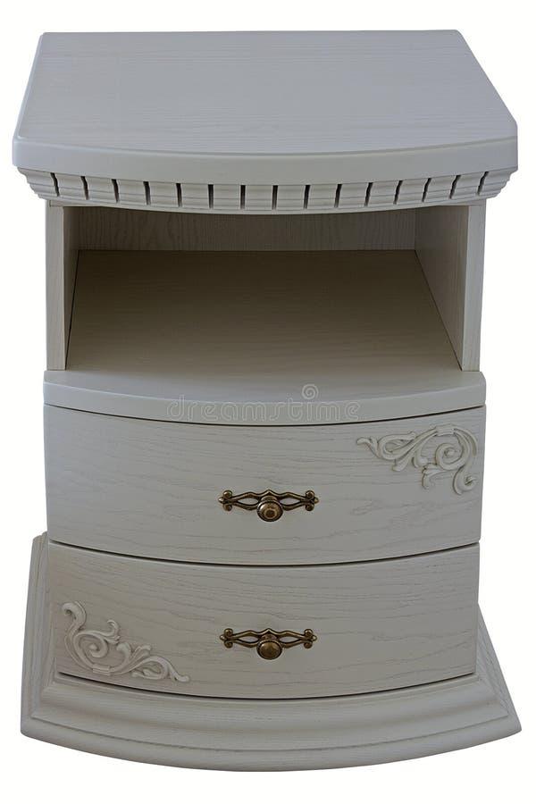 Όμορφος ξύλινος άσπρος πίνακας πλευρών στοκ φωτογραφία