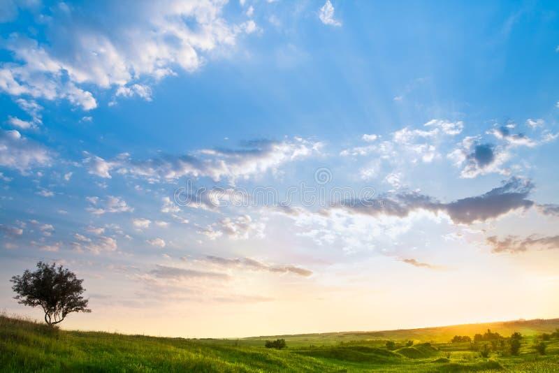 όμορφος ουρανός τοπίων στοκ εικόνα