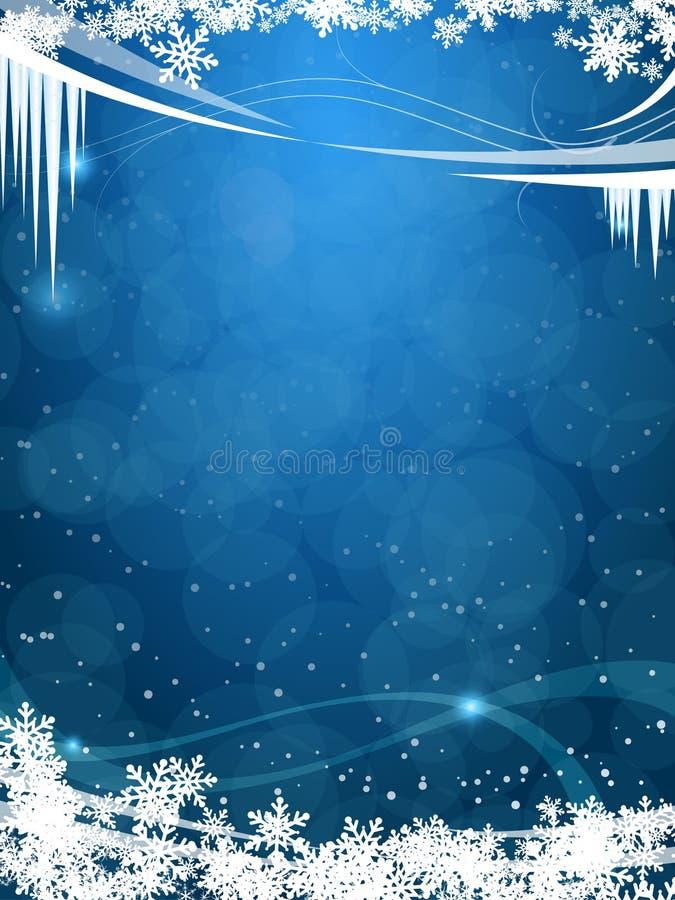 όμορφος παγωμένος χειμώνα διανυσματική απεικόνιση