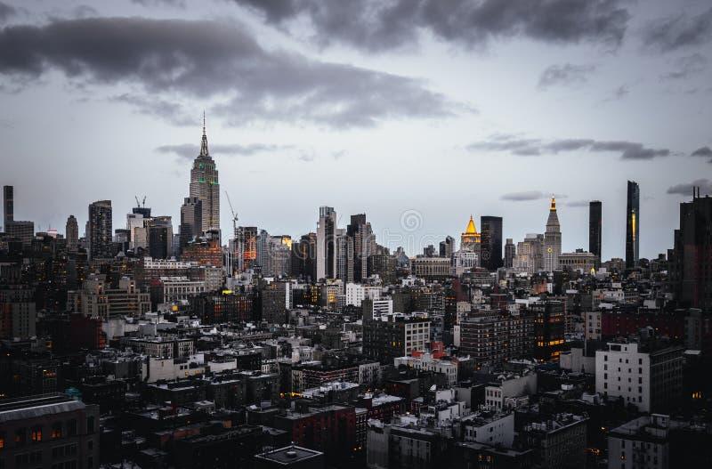 Όμορφος πυροβολισμός της Νέας Υόρκης στοκ εικόνες