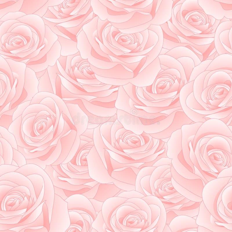 Όμορφος ρόδινος αυξήθηκε - άνευ ραφής υπόβαθρο της Rosa διάνυσμα βαλεντίνων αγάπης απεικόνισης ημέρας ζευγών επίσης corel σύρετε  απεικόνιση αποθεμάτων