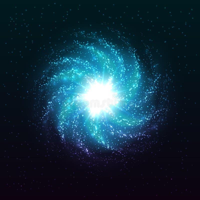 Όμορφος σπειροειδής διανυσματικός γαλαξίας απεικόνιση αποθεμάτων