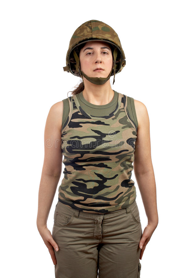 όμορφος στρατιώτης κοριτ& στοκ φωτογραφία