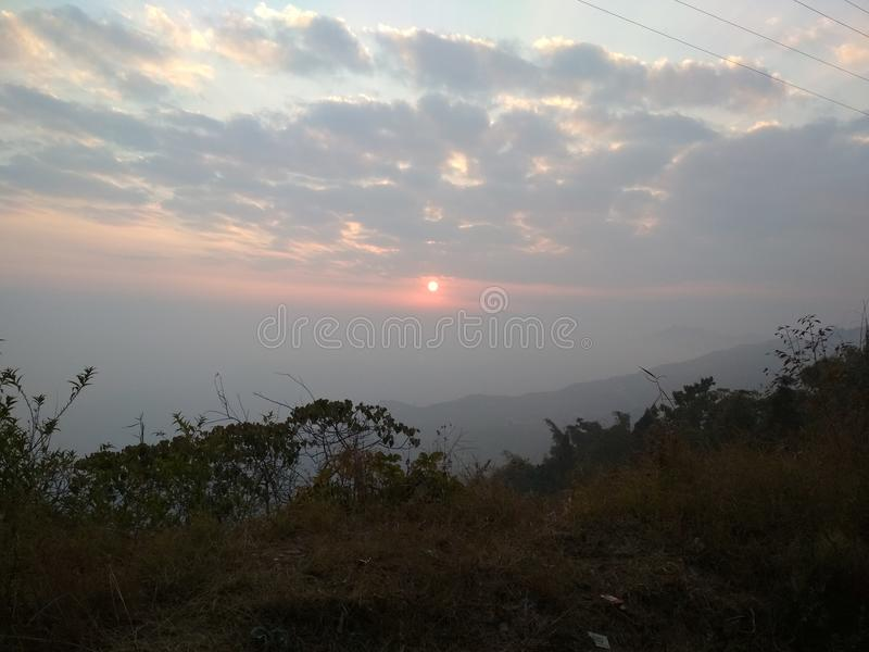 Όμορφος το ηλιοβασίλεμα Himalayan στοκ εικόνες με δικαίωμα ελεύθερης χρήσης